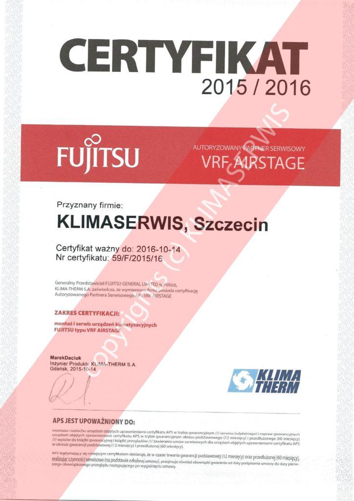KLIMASERWIS - montaż i serwis urządzeń klimatyzacyjnych FUJITSU typu VRF AIRSTAGE